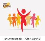 running people set of symbols ... | Shutterstock .eps vector #725468449