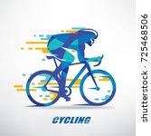 cycling race stylized... | Shutterstock .eps vector #725468506
