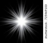 white glowing light burst...   Shutterstock .eps vector #725469103
