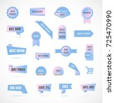 vector stickers  price tag ... | Shutterstock .eps vector #725470990