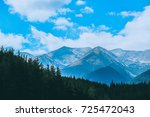 beautiful view on the high... | Shutterstock . vector #725472043