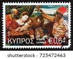 cyprus   circa 2016  a stamp...   Shutterstock . vector #725472463