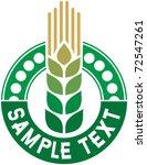 Wheat Sign   Badge  Design