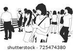 illustration of crowd of people ... | Shutterstock .eps vector #725474380