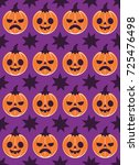 halloween seamless pattern... | Shutterstock .eps vector #725476498