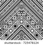 seamless ethnic pattern... | Shutterstock .eps vector #725478124