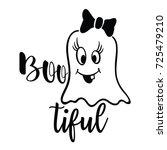 funny girl ghost and... | Shutterstock .eps vector #725479210