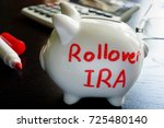 Small photo of Rollover IRA written on a piggy bank.