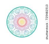 flower mandalas. vintage... | Shutterstock .eps vector #725482513