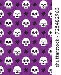 halloween seamless pattern... | Shutterstock .eps vector #725482963