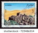 algeria   circa 1998  a stamp... | Shutterstock . vector #725486314