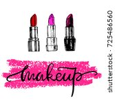 lipsticks. makeup. vector... | Shutterstock .eps vector #725486560