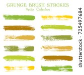watercolor  ink or paint brush... | Shutterstock .eps vector #725497684