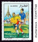 algeria   circa 1998  a stamp... | Shutterstock . vector #725497768