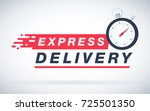 express delivery icon for apps... | Shutterstock . vector #725501350