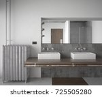 interior of a industrial style... | Shutterstock . vector #725505280