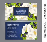 floral style business card... | Shutterstock .eps vector #725505520