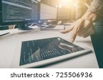 developing programming and... | Shutterstock . vector #725506936