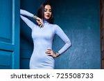 beautiful sexy young woman... | Shutterstock . vector #725508733