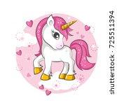 cute magical unicorn. vector... | Shutterstock .eps vector #725511394