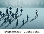 businessman with blindfold... | Shutterstock .eps vector #725516158