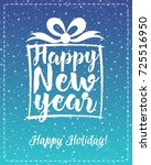 christmas greeting card with... | Shutterstock .eps vector #725516950