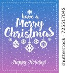 christmas greeting card with...   Shutterstock .eps vector #725517043