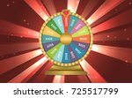 realistic 3d spinning wheel of...   Shutterstock .eps vector #725517799