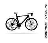 bicycle icon. bike vector... | Shutterstock .eps vector #725522890