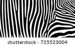 zebra pattern texture tiger... | Shutterstock .eps vector #725523004