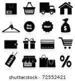 shopping icon. vector | Shutterstock .eps vector #72552421