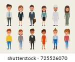 set of women and men character... | Shutterstock .eps vector #725526070