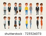 group of business men and... | Shutterstock .eps vector #725526073