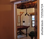 Small photo of Kovalam, India - June 02, 2004 : Treatment room for ayurvedic treatments