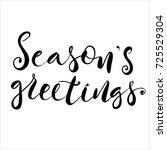 christmas lettering design... | Shutterstock .eps vector #725529304