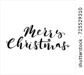 lettering with merry christmas. ... | Shutterstock .eps vector #725529310