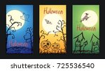 set of vector crayon drawn... | Shutterstock .eps vector #725536540