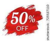 sale red blob  vector...   Shutterstock .eps vector #725537110