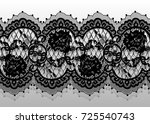 seamless vector black lace... | Shutterstock .eps vector #725540743