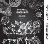 harvest of vegetables in the...   Shutterstock .eps vector #725546653