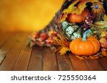 Pumpkins  Gourds  And Leaves I...