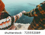 couple in love holding hands... | Shutterstock . vector #725552089
