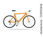 orange bicycle flat icon. bike... | Shutterstock .eps vector #725552818