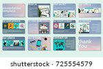 business web trendy... | Shutterstock .eps vector #725554579