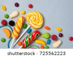 sweets   candies  marmalade ... | Shutterstock . vector #725562223