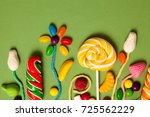 sweets   candies  marmalade ... | Shutterstock . vector #725562229
