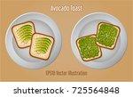 delicious avocado sandwich... | Shutterstock .eps vector #725564848
