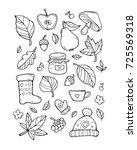 autumn pattern. harvest. fruit  ... | Shutterstock .eps vector #725569318