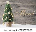 golden decorated christmas tree ... | Shutterstock . vector #725570020