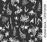 black and white seamless... | Shutterstock .eps vector #725573458